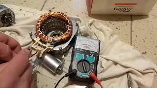contrôle moteur electrique 230 V avec demarrage par condensateur