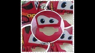 DIY: Carro de Carton (Rayo McQueen)Coche de caja de Cartón
