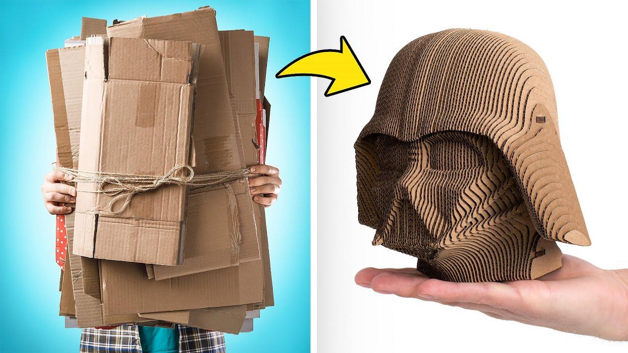 Darth Vader en cartón, un modelo 3D perfecto