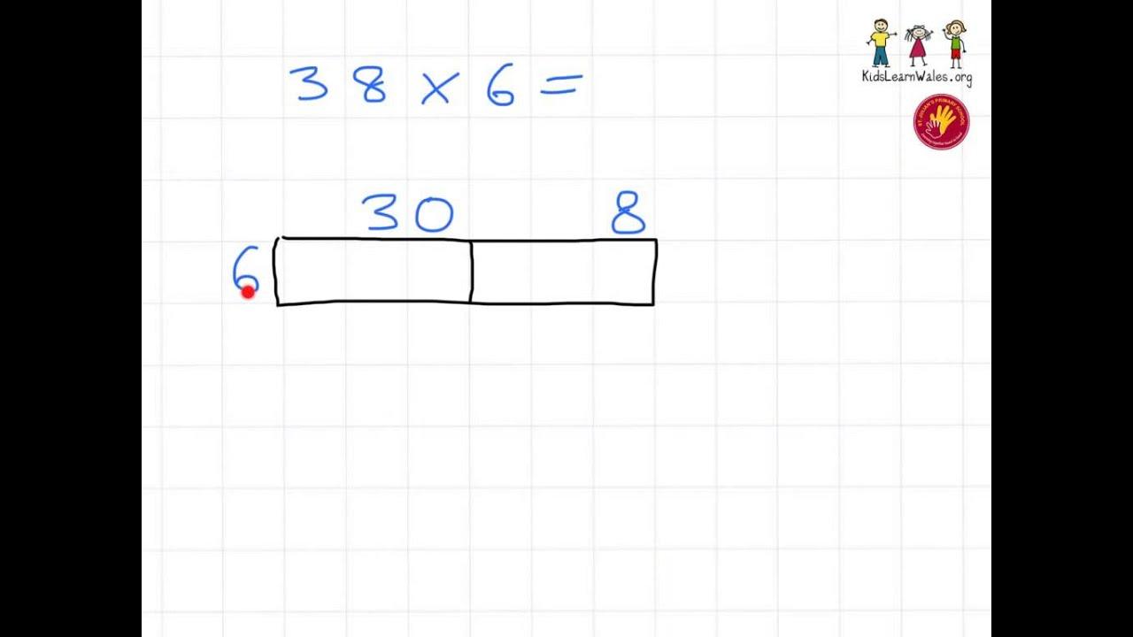 Year 4 Multiplication Tu X U Grid Eg 3 Youtube