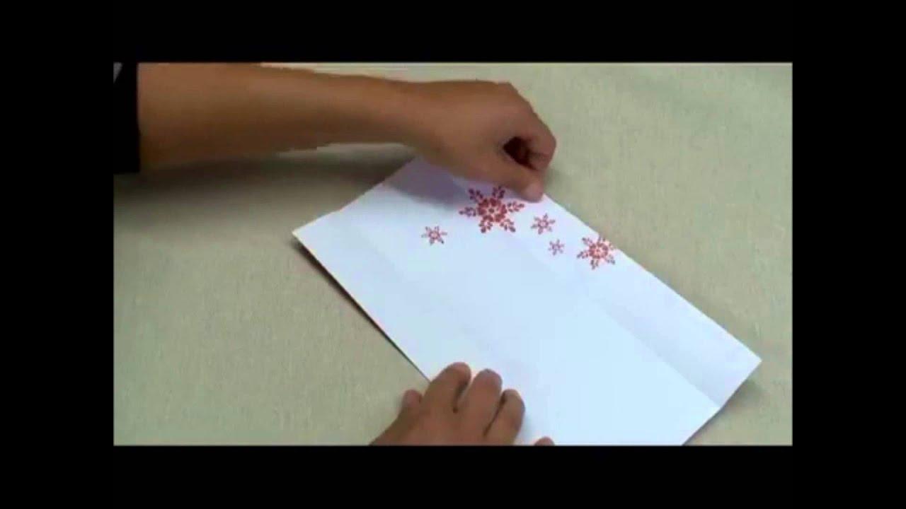 Fabriquer Une Pochette A Couverts En Origami