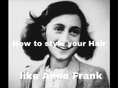 how to style your hair like anne frank youtube. Black Bedroom Furniture Sets. Home Design Ideas