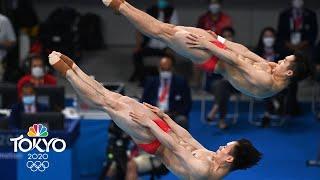 Wang Zongyuan, Xie Siyi run away with synchronized springboard gold | Tokyo Olympics | NBC Sports