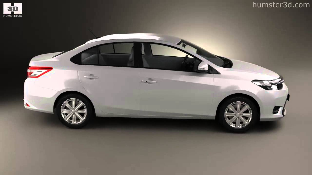 Toyota Yaris Sedan 2014 By 3d Model Store Humster3d Com