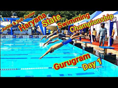 Haryana State Swimming Championship 2019 (Gurugram) Day 1🏊♂️