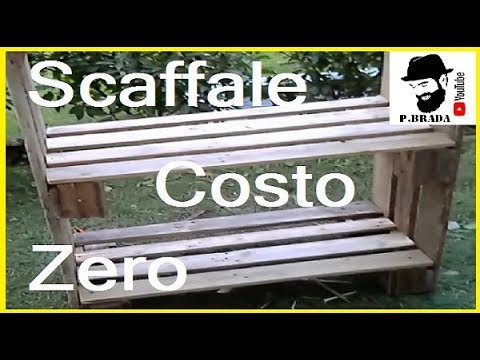 Creare uno scaffale fai da te riciclando pallett by paolo for Scaffali fai da te