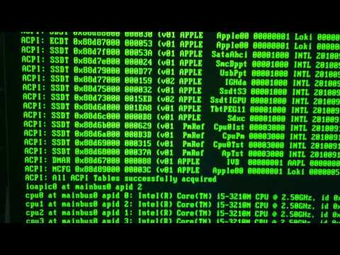 Booting NetBSD 7.0 on a Macbook Pro Retina 13 inch
