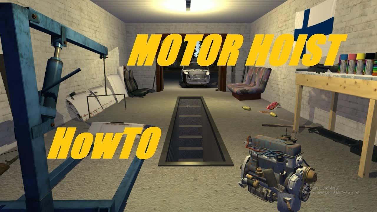 How To Use New Motor Hoist My Summer Car Tutorial