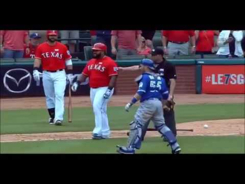 TEXAS RANGERS vs. TORONTO BLUE JAYS Fall-Out During 8th Inning - Don