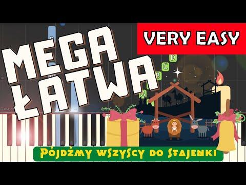 🎹 Pójdźmy wszyscy do stajenki - Piano Tutorial (MEGA ŁATWA wersja) 🎹