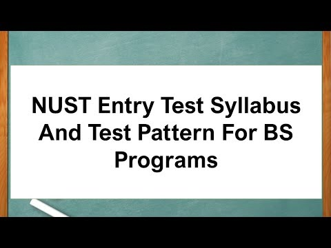 NUST Entry Test Syllabus And Test Pattern For BS Programs - YouTube