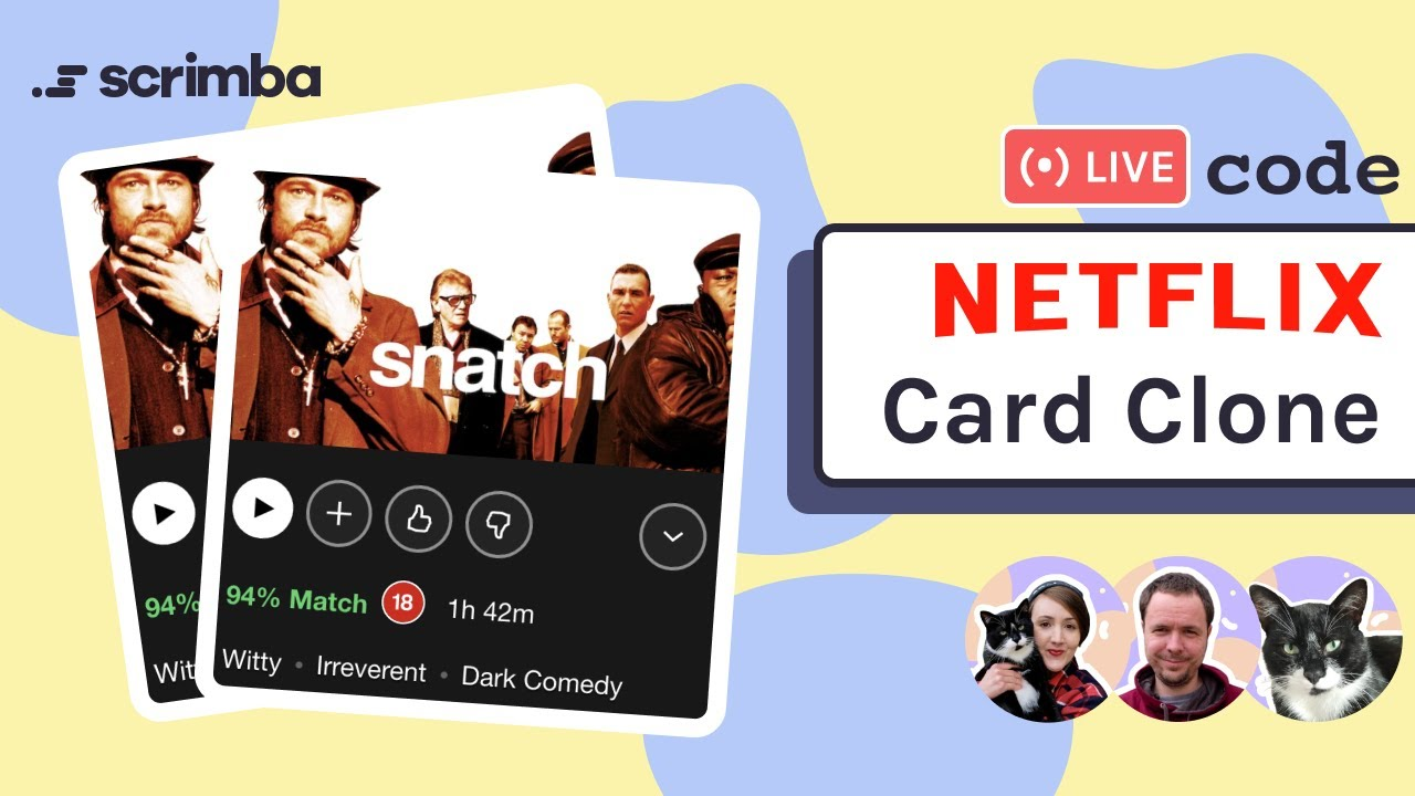 Live-coding a Netflix Card Clone with HTML and CSS   Frontend Web Development