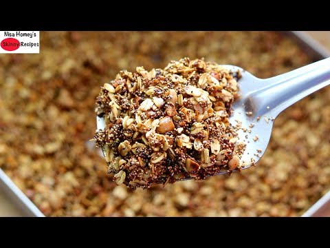 high-protein-chia-seeds-and-oats-granola-recipe---healthy-snacks-with-oats- -skinny-recipes