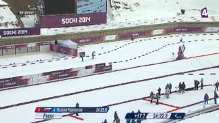 L'emballage final du relais ouvert 4x2,5km - Jeux Paralympiques Sotchi 2014