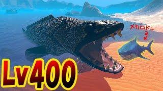 超巨大蛇魚がメガロドンもモササウルスもまる飲み!! 沼の王者がついにサメの海を喰らい尽くす!! サメの海で弱肉強食の壮絶バトル!! - Feed and Grow Fish #101