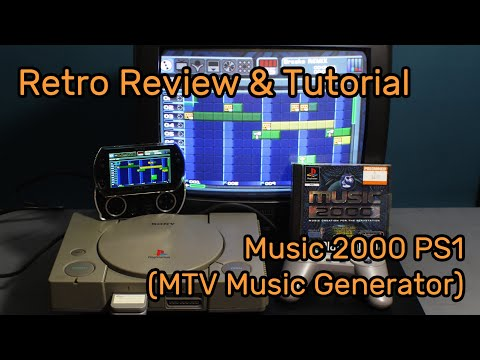 Retro Review & Tutorial - Music 2000 on PS1 MTV Music Generator