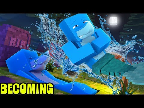 MINECRAFT BECOMING..... A MERMAN !!! w/ Little Kelly, Tiny Turtle and Sharky