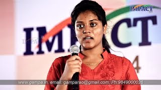 Communications by Gampa Aasritha at IMPACT2014