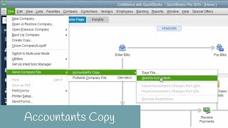 How to Create an Accountants Copy in QuickBooks