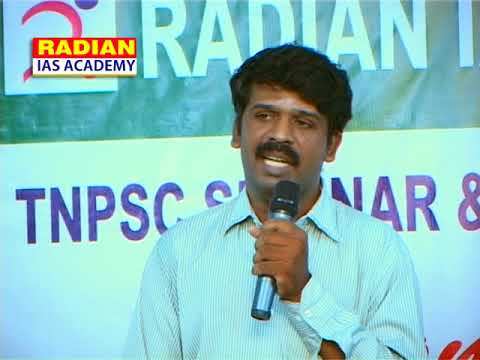 Mr. Parthasarathi Municipal Commissioner Speech about TNPSC Exam tips at Coimbatore RADIAN Session 5