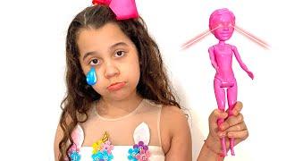 MINHA BARBIE ROSA DEU ERRADO !!! - COLOR REVEAL Barbie !