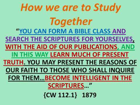WE MUST STUDY THE SCRIPTURES with the Aid of Our Publications(SOP and Pioneer Writings)