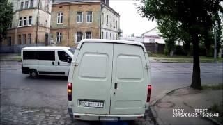Пешеход врезался в ГАЗель