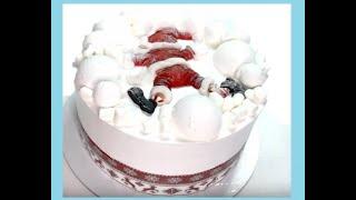 Оформление торта в новогоднем стиле_How to make a cake in New Year s style