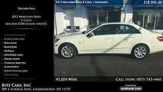 Used 2012 Mercedes-Benz E-Class   Rite Cars, Inc, Lindenhurst, NY