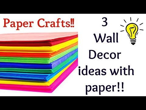 3 Amazing wall hanging, paper crafts, diy room decor, paper craft ideas for room decoration/twin tag