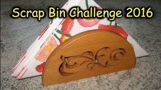 Making a Napkin Holder out of scrap plywood using the Scroll Saw. Srap Bin Challenge 2016: Playlist: https://www.youtube.com/