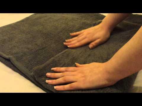 Towel smoothing▪folding