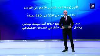 توصية برفع الحد الأدنى للأجور في الأردن الى 250 دينارا