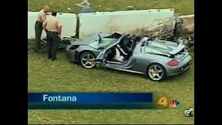 Porsche carrera GT 2005 crashed and kills two people, years before the accident with Paul Walker