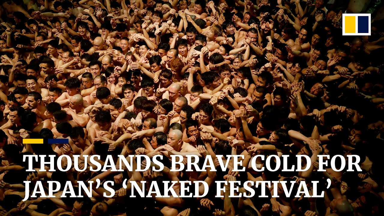 Thousands Brave Cold For Japans Naked Festival Amid Coronavirus