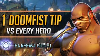 1 DOOMFIST TIP for EVERY HERO ft. Dallas Fuel EFFECT (이펙트) - 둠피스트 꿀팁