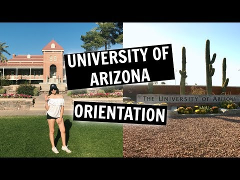 UNIVERSITY OF ARIZONA ORIENTATION // VLOG