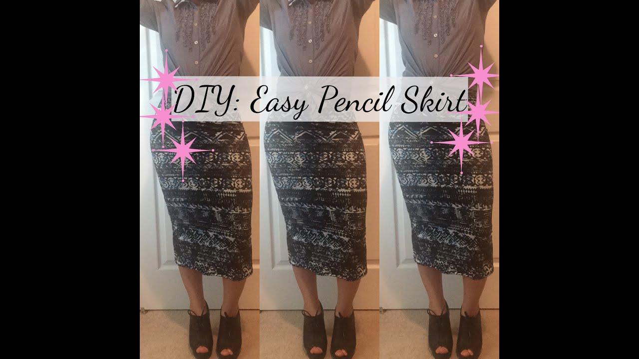 diy easy pencil skirt tutorial