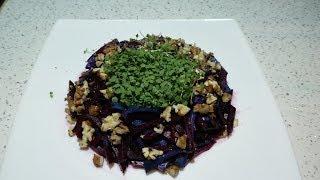 Салат из свеклы.Простой рецепт вкусного салата.Микрозелень круглый год.
