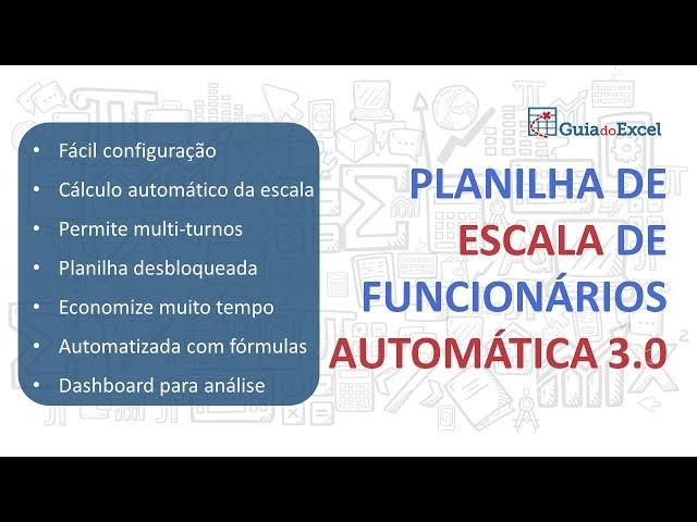 Planilha de escala de trabalho automática 3.0
