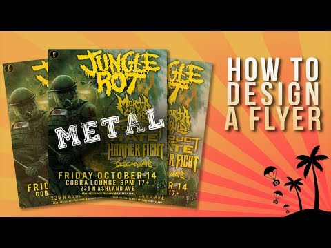How To Design A Flyer [Metal and Hardcore]