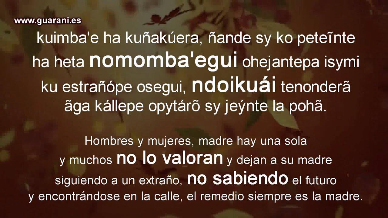 ñeêjoapy Mbotovéva Frases Negativas En Guaraní Curso De Lengua Guaraní