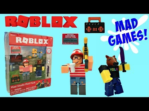 Roblox Toys Mad Studio Mad Pack Unboxing Toy Review Stop Motion
