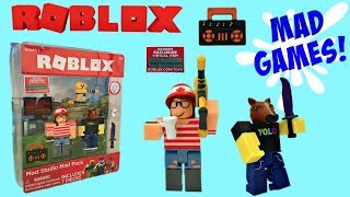 Roblox Toys, Mad Studio Mad Pack, Unboxing, Toy Review, Stop-Motion Animation