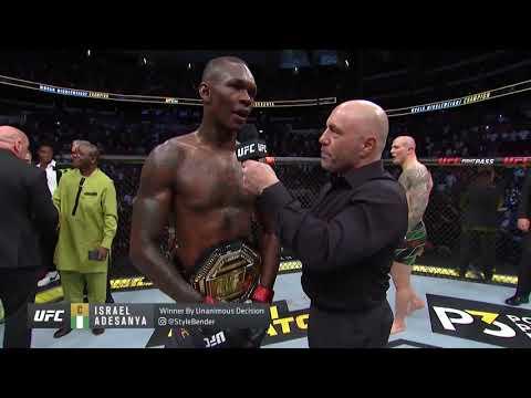 UFC 263: Адесанья vs Веттори - Слова после боя