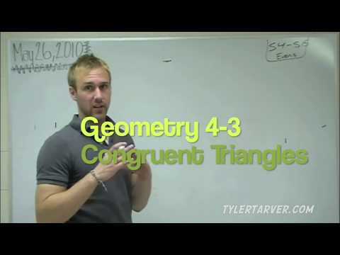 Geometry 4 3 Congruent Triangles