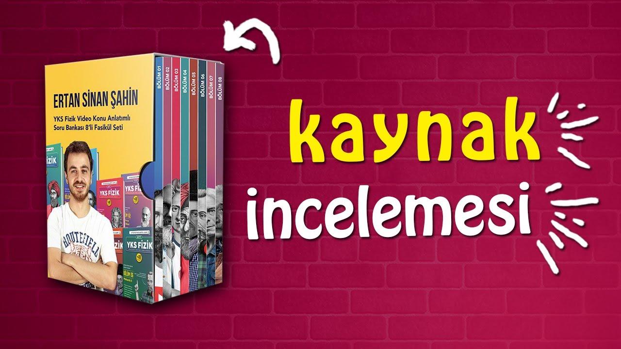 Ertan Sinan Şahin YKS Fizik TYT - AYT Soru Bankası Kaynak İncelemesi