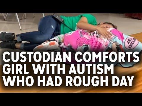 "KDD Mornings - #GoodNews: ""Angel"" School Custodian Comforts Girl With Autism"