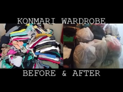 KonMari Method ~ Before & After Wardrobe