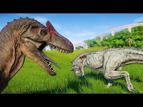 Jurassic World Evolution - 2 Carnotaurus vs 2 Allosaurus